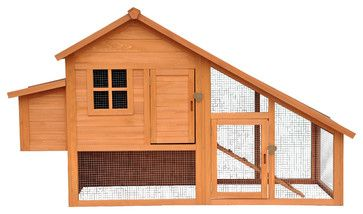 Habitat Chicken Coop, Natural - Traditional - Small Pet Supplies - by Merry Products