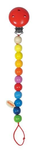 Heimess Wooden Baby Chain Rainbow Beads, £6.99, Baby Bestsellers, Blue Daisy