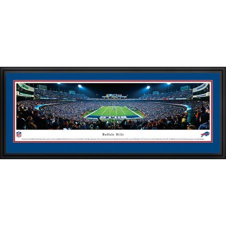 Buffalo Bills - End Zone at Ralph Wilson Stadium - Blakeway Panoramas NFL Print with Deluxe Frame and Double Mat