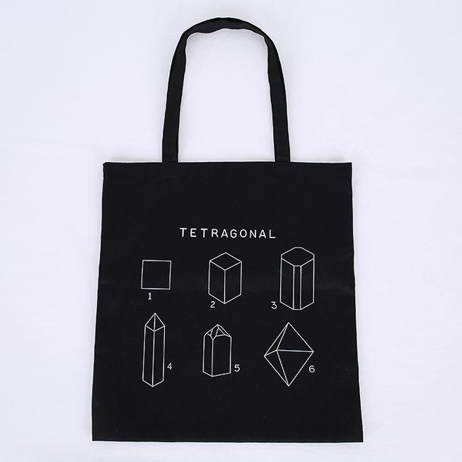 Korea womens shopping mall [REALCOCO] Shape Eco Bag / Color : Black / Price : 27 USD #korea #fashion #style #fashionshop #apperal #koreashop #ootd #realcoco #ecobag #dailybag #canvasbag