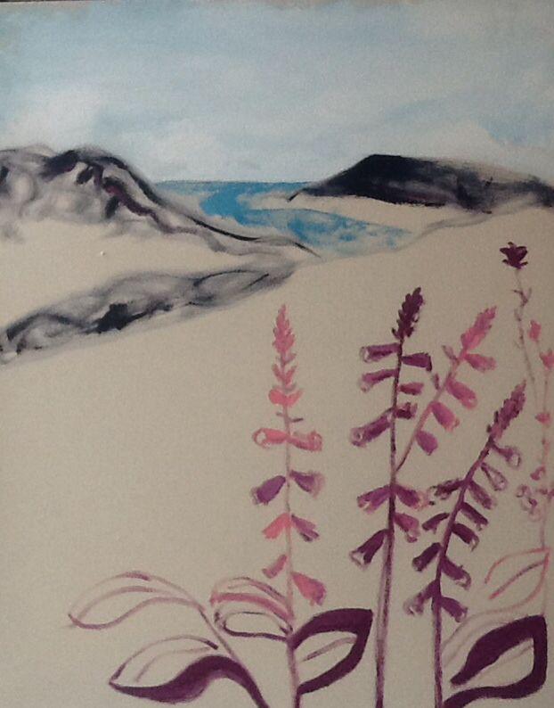 Favourite foxgloves - spring has sprung .. SOLD Nathan Davies Art
