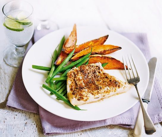 Cajun-style cod with sweet potato wedges | ASDA Recipes