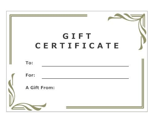 7 best Certificates images on Pinterest Gift certificates, Gift - blank gift certificate template word
