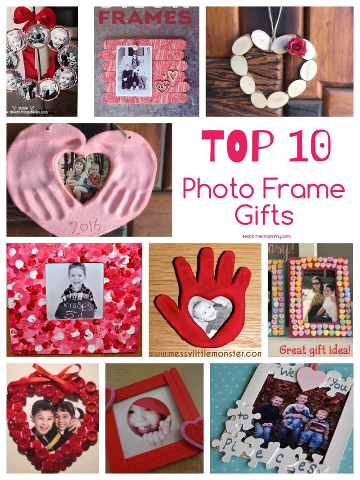Top 10 Photo Frame Valentines Day Gifts Choose a photo frame you fancy, make it with the kids and give it as a gift on Valentine's Day or any other day!