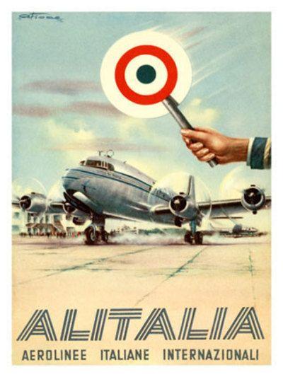 Cartolina d'Alitalia