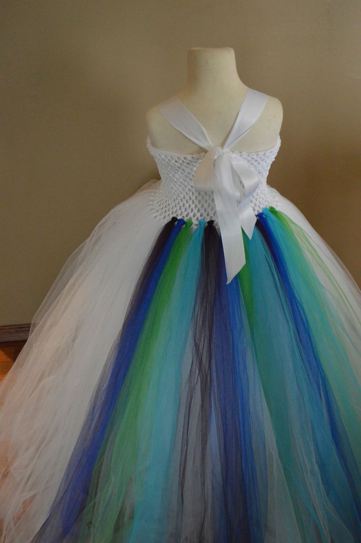 White Peacock flower girl dress by TutuSweetBoutiqueINC on Etsy, $60.00