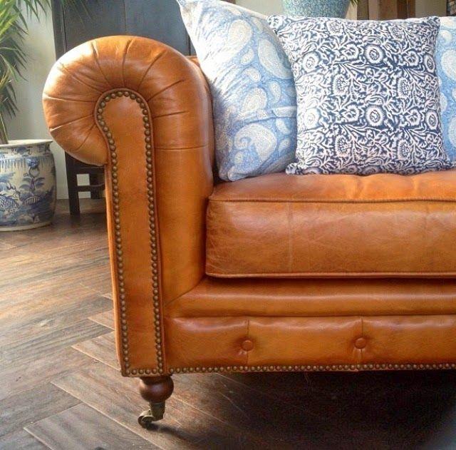 PORTOBELLO - HOME Tan leather chesterfield