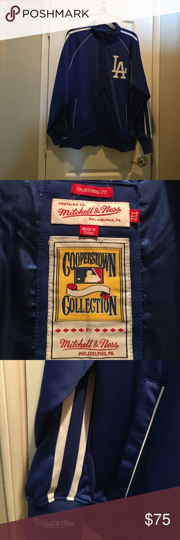 Mitchell & Ness Dodger Jacket L A  Dodger jacket Cooperstown Collection jacket has two pockets. Mitchell & Ness Jackets & Coats