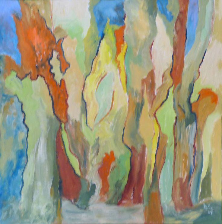 """""""Woods of Bordeaux"""", Oils, 24"""" x 24"""", $300.00"""