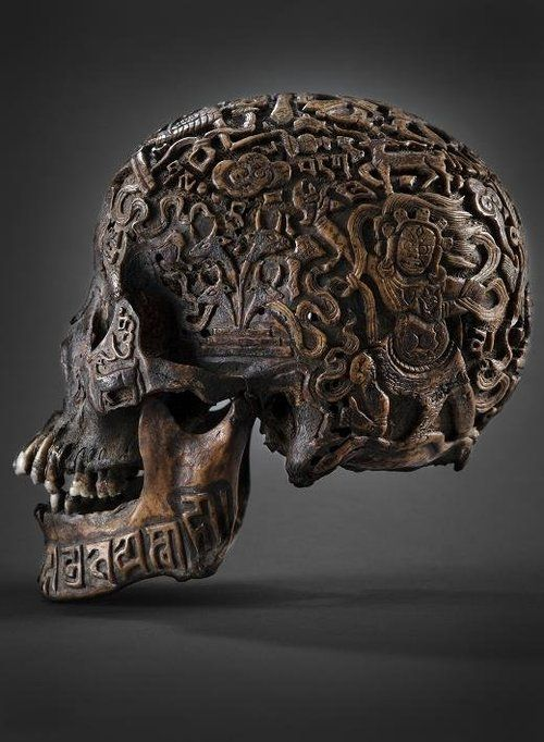 Carved Tibetan skulls  (via from89)  Source: act-of-the-ignoramus