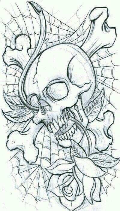 Dibujo skull skull
