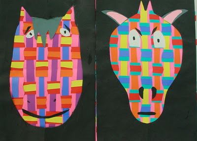 Link to great elementary art site!!!!- 2nd Grade Animal Weavings