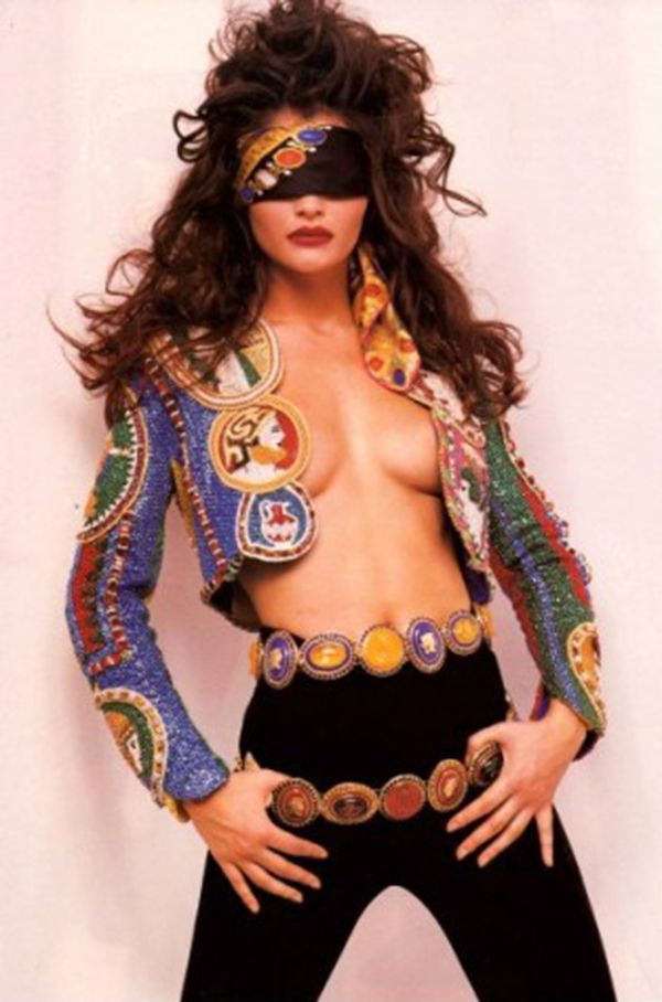 oh yeah ....Helena Christensen by Herb Ritts -  Versace