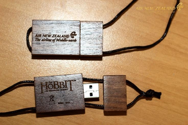 #airnz and #hobbit 4gb wooden USB stick