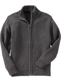 Boys Zip-Front Sweaters