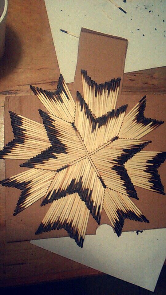 рисунок из спичек звезда как птицы летят