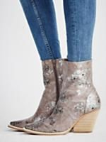 Jeffrey Campbell + Free People Grey Print Peyton Ankle Boot at Free People Clothing Boutique