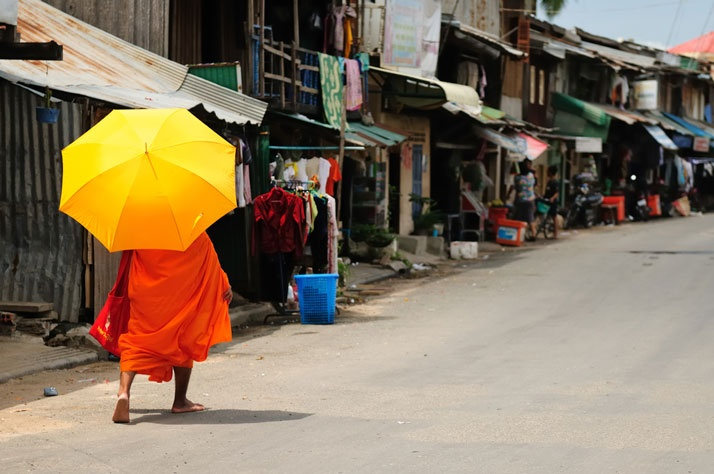 Monk in Pnom Penh