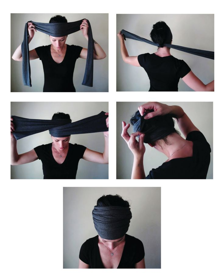 how to wear a Head Scarf Yoga Headband- by EcoShag