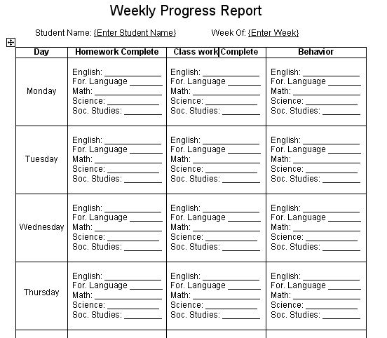 Best 25+ Report card template ideas on Pinterest Kindergarten - student progress report template