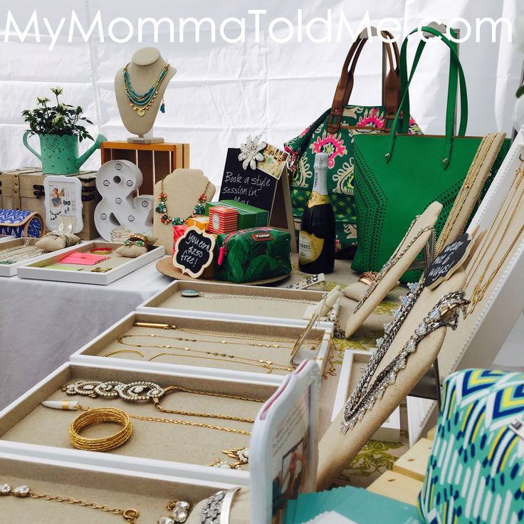 Stella & Dot Trunk Show Set Up Display Ideas MyMommaToldMe.com