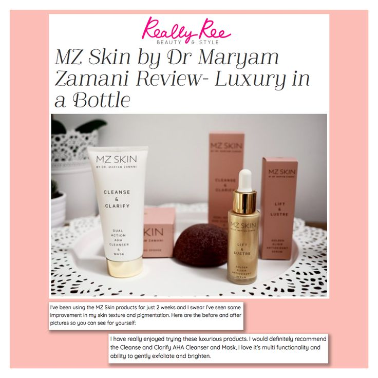 Thank you @reallyree for the amazing review on @mzskinofficial products Cleanse and Clarify, Natural Konjac Face Sponge, and Lift and Lustre! Glad you could feel the difference!! #beautifulskin #cleanser #facemask #serum #gold #exfoliate #hydrate #beauty #drmaryamzamani #mzskin #lift #cleanse #hydrate #skin #healthyskin #glowingskin #beautyguru #beautytip