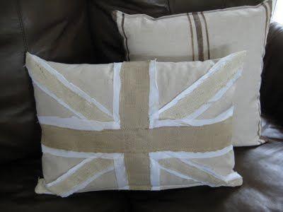 decoro sin decoro: Cojín con la bandera de Reino Unido