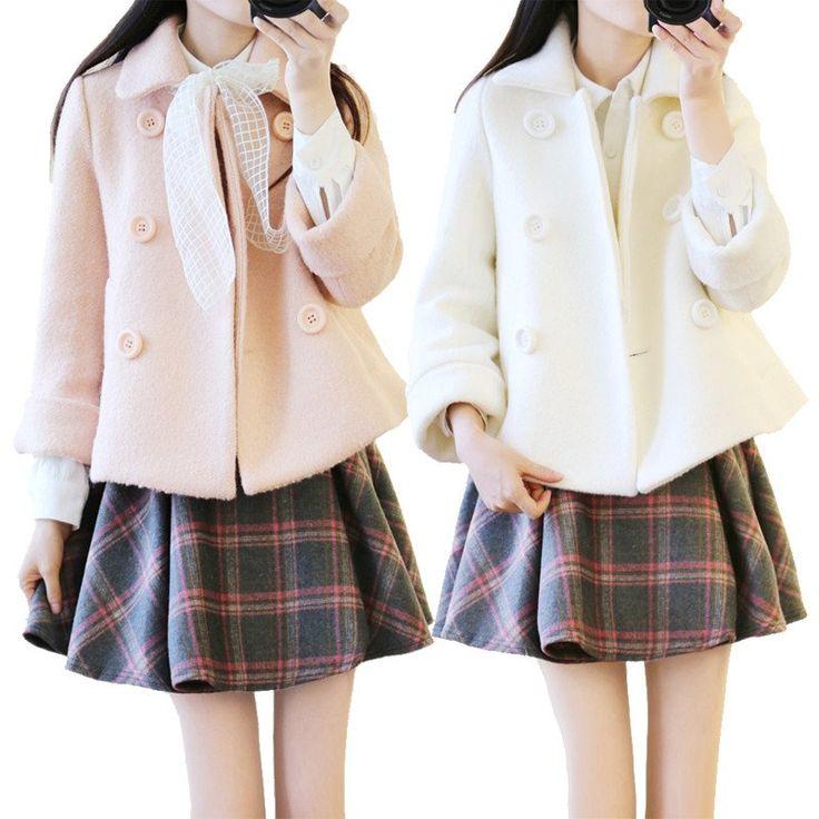 "Sweet women woolen coat SE9305   Coupon code ""cutekawaii"" for10% off"
