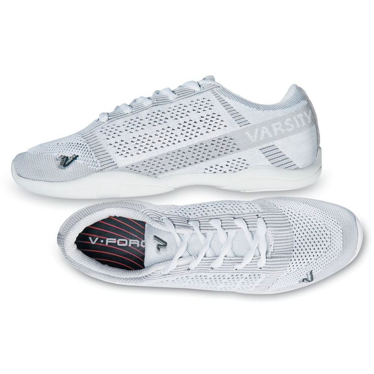Dynamic new performance cheer shoe with 'All New' knit technology Designed to mold specifically to an athlete's foot Soft, breathable, athletic style with reinforced arch and insole support Hybrid outsole with phylon base construction keeps it light Finger placement stunt notches on rear and sides provide additional support and stability during stunting.  Multi-use shoe bag included.  Available in Adult & Youth Sizes.