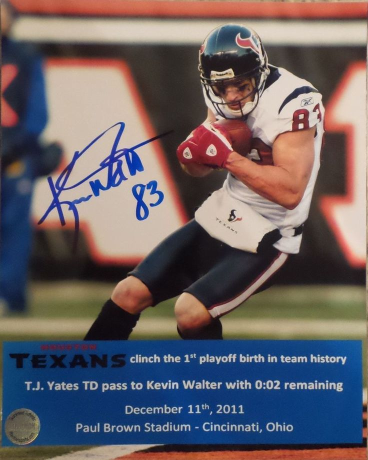 kevin walter houston texans signed #autographed 8x10 photo fsg authenticated b from $0.99
