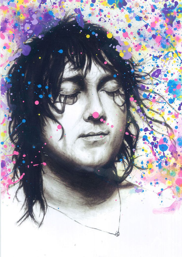 Anohni Antony Hegarty Antony and the Johnsons abstract acrylic oil painting charcoal drawing portrait tribute fan art print wall decor by murkyart on Etsy