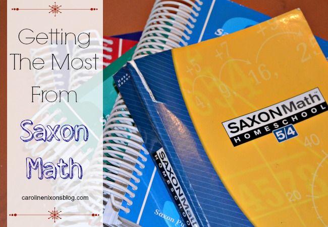 How we accomplish Saxon Math efficiently! - Anchored In His Grace #homeschoolmath