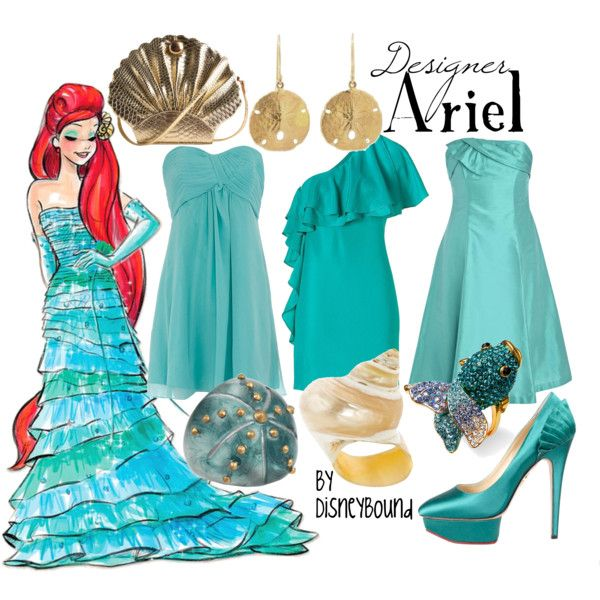 """Ariel"" by lalakay on Polyvore. Once again, love the dress (the first one)"