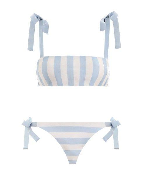 Helm Tie Bandeau Bikini // Zimmermann