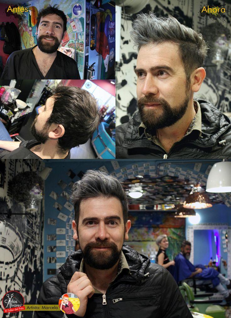 silver hair / cabello plateado hombre
