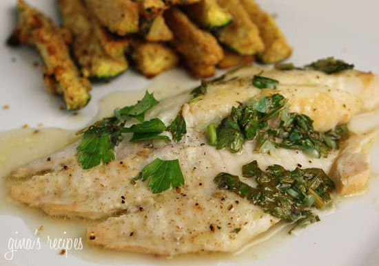 Classic sauce of butter, lemon and fresh parsley goes perfect with any fish. I try to eat fish twice a week. For a quick healthy dinner on a busy weeknight, this is simple and delicious. Baked Garlic Lemon Tilapia Gina's Weight Watcher Recipes Servings: 6 servings • Points : 5 pts • Smart Points: 3 Calories: 199.5 • Fat: 7.2 g • Carb: 1.0 g • Fiber: 0.1 g • Protein: 33.4 g • Sugar: 0 g Sodium: 29.0 mg Ingredients: 6 (6 oz each) tilapia filets 4 cloves garlic, crushed 2 tbsp butter 2 ...