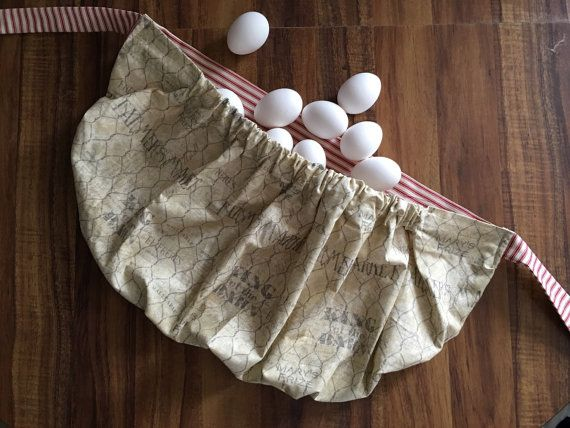 Egg Gathering Apron Gathering Apron Harvest by KittsonsKitchen
