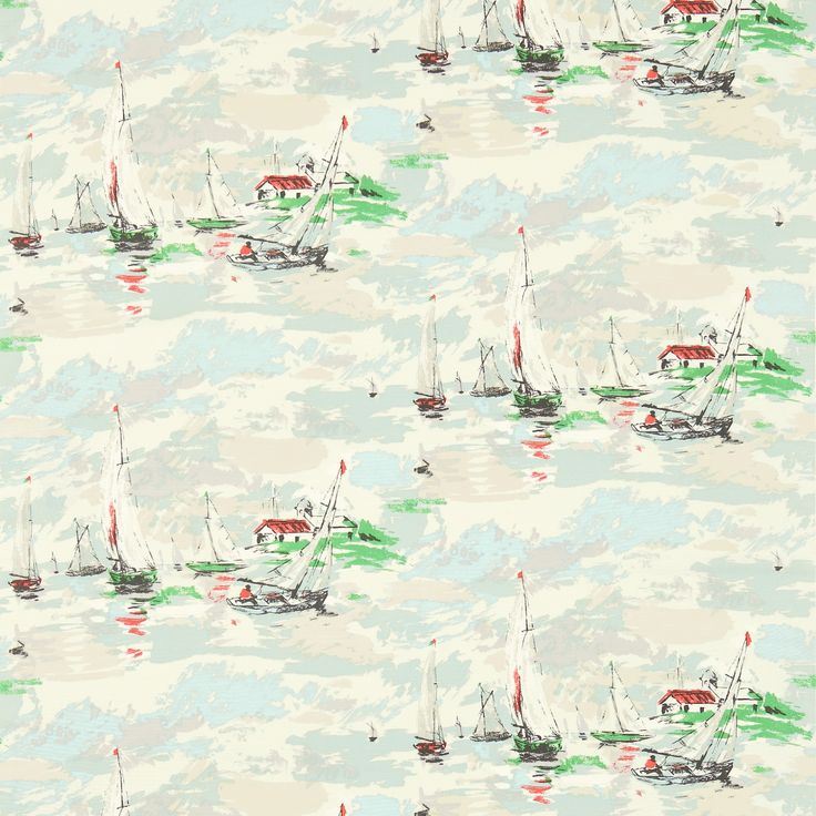 Sanderson - Traditional to contemporary, high quality designer fabrics and wallpapers | Products | British/UK Fabric and Wallpapers | Sail Away (DVIN224341) | Vintage 2 Prints