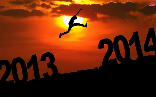 Happy New Year Wishes 2014 in 3D Wallpaper with Greetings Quotes