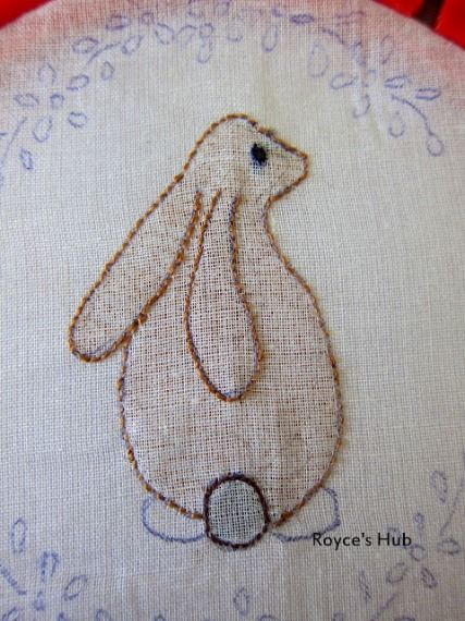 Learn how to stitch a shadow work bunny from Royce's Hub