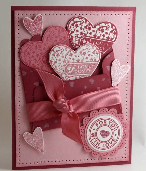 Valentine's Card by Stamp Addict 77 - Cards and Paper Crafts at Splitcoaststampers