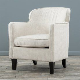 Best Selling Home Decor Lampman Beige Cotton Club Chair 295333