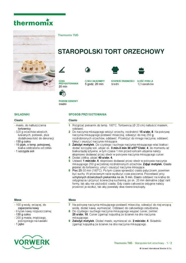 thermomix - Staropolski tort orzechowy