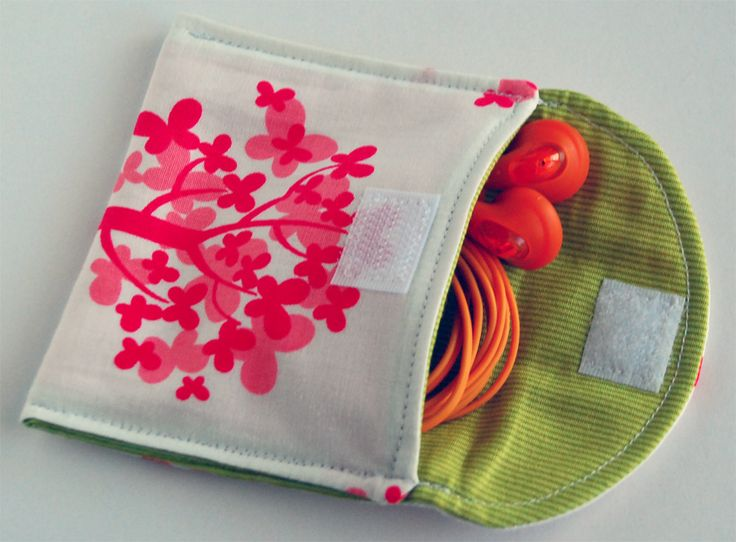 The earbud pouch. Kept tangle free and clean. Instructions to make.