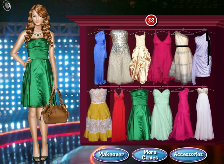 Dress up celebrity fashion games makeover