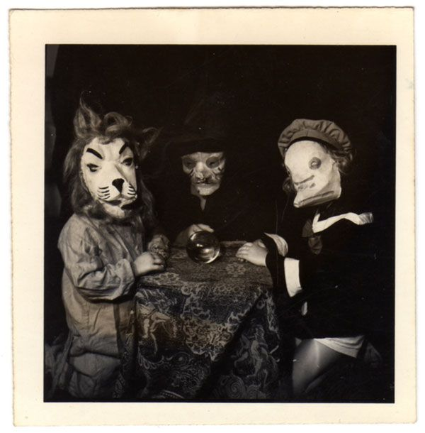 Here are 5 photos from artist/musician Ossian Brown's 2010 book Haunted Air-- a collection of Halloween photos dating back between 1875 and 1955. Some of these photos are over 100 years old, and like a fine wine the emotional triggers of these moments in time have only become more subtle and complex with age.