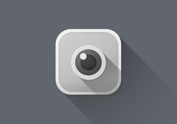 iOS 7 Long Shadow Redesign