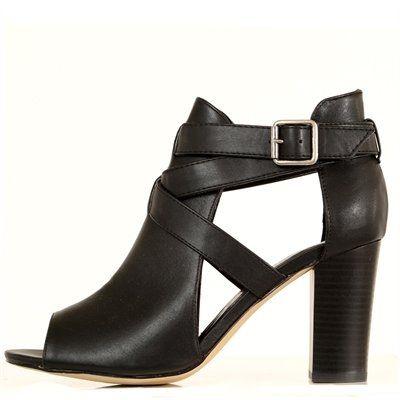 Boots ajourées noires