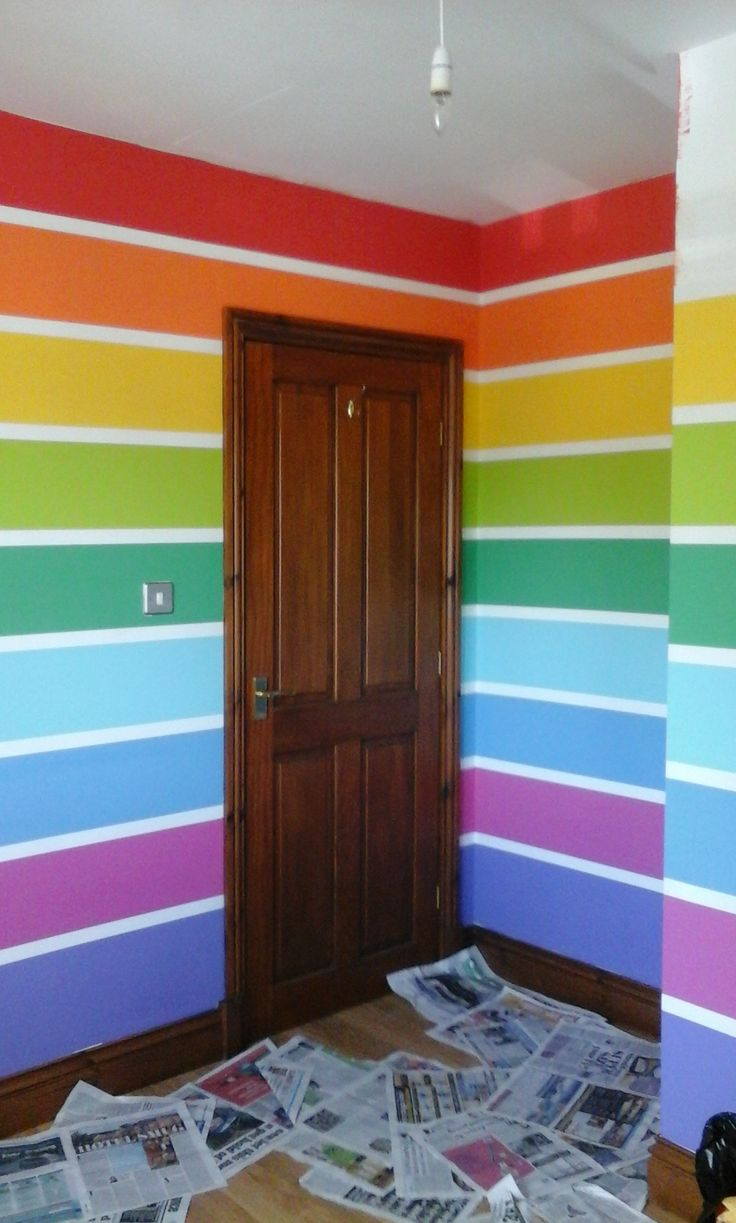 25 best ideas about rainbow wall on pinterest rainbow room kids rainbow room and rainbow - Childrens bedroom wall painting ideas ...