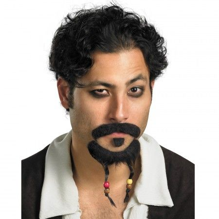 Jack Sparrow Mustache and Goatee Pirate Costume Accessory  | Costumes.com.au $9.95
